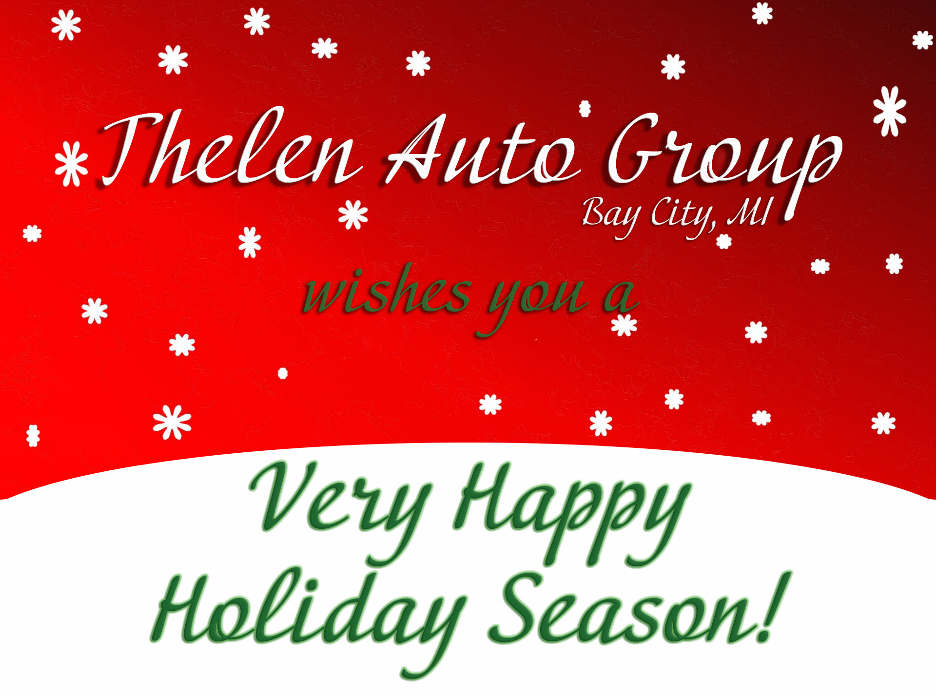 Happy Holidays From Thelen Subaru in Bay City